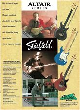 Starfield Altair Series Guitar 1992 ad w/ Donald Kinsey Report WC Clark Rob Buck