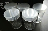 Lot 5 BCW Silver Dollar Round Clear Plastic Coin Storage Tubes w/ Screw On Caps
