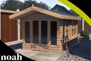 12x10 'Oswald' Wooden Garden Room - Shed/Summerhouse Heavy Duty Tanalised