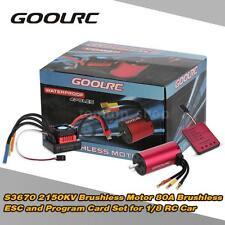 GoolRC S3670 2150KV Motor +80A ESC +Program Card Combo Set for 1/8 RC Car O4E9