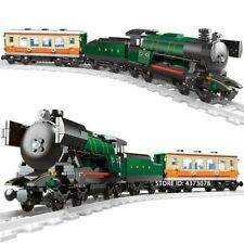 Emerald Night Train Set Technic City Series Building Blocks Kids Birthday Gift
