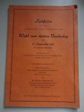 Leitfaden für die Wahl zum 4. Bundestag am 17.09.1961