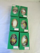 Vintage Chinese Handpainted Chicken Eggs Lot Set Christmas Egg Ornaments Lot