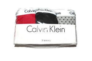 Calvin Klein 3 Pack Bikini Panties Women's L