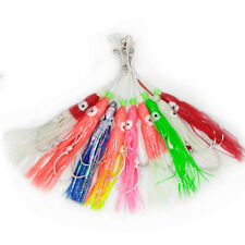 9 pcs/lot Soft Octopus Fishing Lure 12cm Trolling Squid Skirts Tuna Jigging Rigs