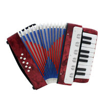1pc IRIN Piano Accordion Keyboard Instrument w/ Strap Gift for Kids Red
