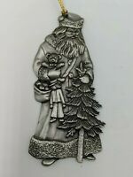 Father Christmas Saint Nicholas 1993 Holiday Pewter Ornament Vintage By Avon