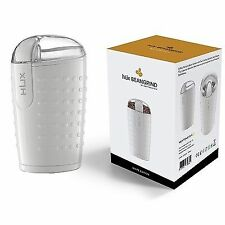 Hlix Beangrind-White-Coffee, Nut and Spice Grinder with Twin Cutting Stainle