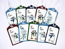 Stampin Up Christmas Gift Tags Christmas Tags Snowman Gift Tags Penguin Gift Tag