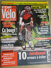 TOP VELO N°136: JUILLET 2008: SPECIAL TOUR - NOUVEAUTES 2009 - CAMPAGNOLO 11 VIT