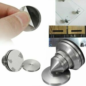 4 x Stainless Steel Speaker Spike+Pad Base Amplifier Isolation Cone Stand Feet