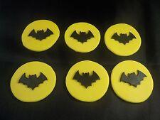 Batman Symbol Style Edible Cupcake Toppers Superhero