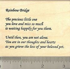 Rainbow Bridge Pet Loss Sympathy rubber stamp K9005 TXT