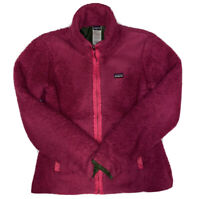 PATAGONIA Women's Pink Los Lobos Full Zip Fleece Sweater Jacket Size Medium