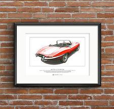 Jaguar E-Type DHC Series 1 Limited Edition Fine Art Print A3 size