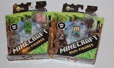 Minecraft 2 Mini-Figures Pack Grass Series Steve Animals Zombie