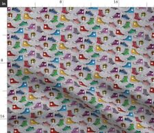 Sneakers Shoes Tennis Hip Canvas Sneaker Fabric Printed by Spoonflower BTY