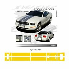 Ford Mustang 2005 to 2009 Bumper to Bumper Stripes Graphic Kit - Bright Yellow