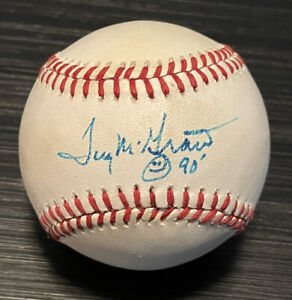 Tug McGraw Autographed Hand Signed Official National League Baseball
