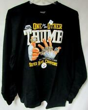 """Pittsburgh Steelers Men Xl """"One For The Other Thumb"""" Super Bowl Xliii Tee Yz 103"""