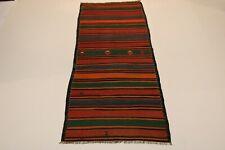 S.Antik Feiner Nomaden Kelim Unikat Perser Teppich Orientteppich 3,35 X 1,40
