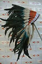 turquoise indian feather headdress indian war bonnet for halloween costume hat