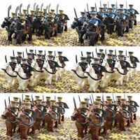 10pcs Set Military Cavalry Soldier War Horse Military Army Minifigures Fits Lego