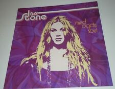 JOSS STONE~Mind Body & Soul~Promo Poster Flat~Double Sided~12x12~NM Cond~2004