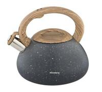 Whistling Kettle 2.7 L stovetop Marble Gas / induction / Grey