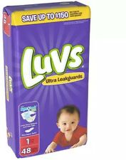 Luvs Ultra Leakguards Diapers, Size 1 48 ea (Pack of 2)