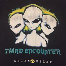 Vintage Third Encounter Medium T Shirt Phaser Space Alien Eight UFO Martian Moon