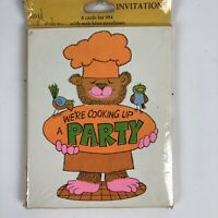 Party Invitations Cards Vintage 1970's - Lot of 16