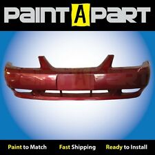 2002 2003 2004 Ford Mustang GT Front Bumper Painted E9 Laser Red Metallic