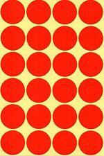 32mm Coloured Dots Round Stickers Sticky Adhesive Spot Circle Paper Labels BN UK