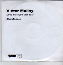(DE644) Victor Malloy, Lions And Tigers And Bears sampler - DJ CD