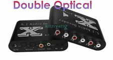 Digital DTS/AC3 Dual-Optical SPDIF to 5.1-Analog Audio Dolby Gear Sound Decoder