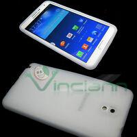 Custodia silicone per Samsung Galaxy Note 3 N9005 BIANCO flessibile morbida