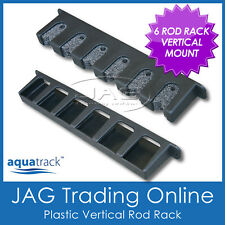 VERTICAL 6-ROD STORAGE ROD RACK -Plastic Boat Fishing Rod Holders / Foam Inserts
