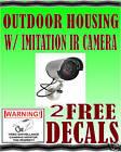 FAKE IR Dummy Camera in Circular Outdoor Housing w/LED