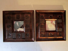 2 Framed Wedding Shadow Box Bride Dress & Groom Tux Carved Wood Gift Idea