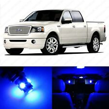 9 x Ultra Blue LED Interior Light Package For 2004 - 2008 Ford F-150 F150