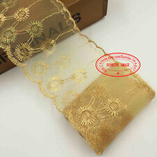2 Yards Embroidered Net Lace Trim Ribbon Dress Skirt Handicrafts Decor DIY FL75