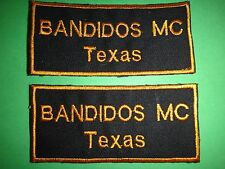 2 Motorcycle Club BANDIDOS MC TEXAS Machine Embroidered Patches