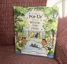 Winnie The Pooh Board Pop Up Book Retro Vintage Childrens Story Christmas