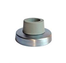 Door stopper chrome rubber round d55 h30