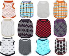 "Droolingdog Pet dog apparel ""geometric pattern"" cotton vest summer shirt coat"