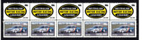 GLEN SETON MOTOR RACING LEGEND STRIP OF 10 MINT VIGNETTE STAMPS NISSAN SKYLINE