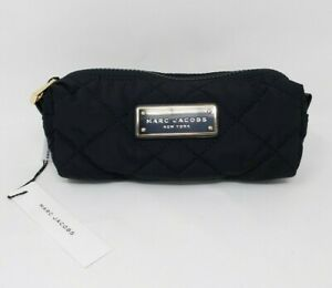 Marc Jacobs Small Quilted Cosmetic Bag, Black, Gold