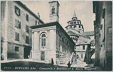 CARTOLINA d'Epoca  BERGAMO  citta'  - SANTA MARIA MAGGIORE 1934