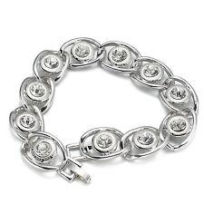VH35 Clear Austrian Crystal 18K WGP Bracelet Fashion Party Gift